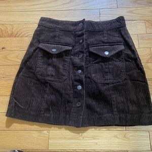 💥5/$25 Forever 21 brown corduroy skirt in small